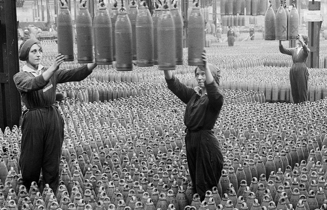Women workers in a shell factory